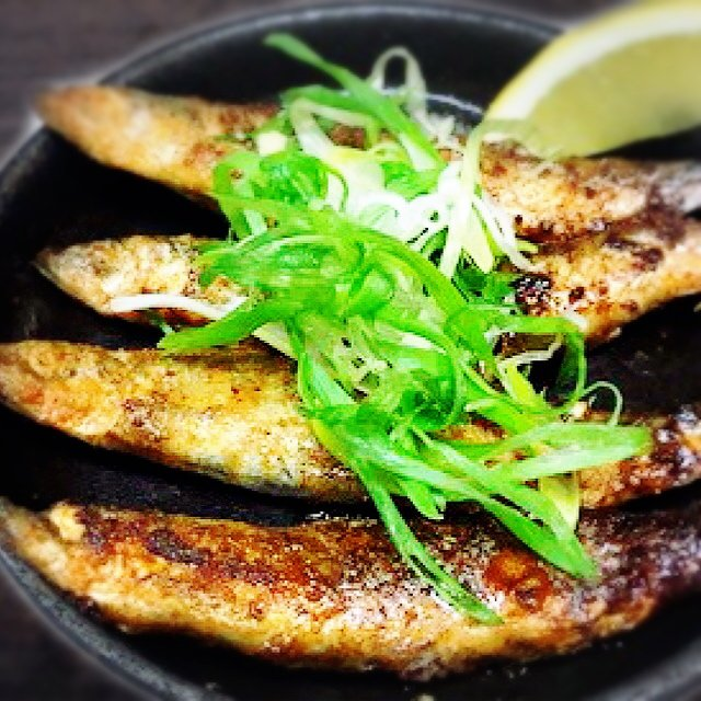 Shishamo Butter Soy (grilled smelt with butter soy sauce)